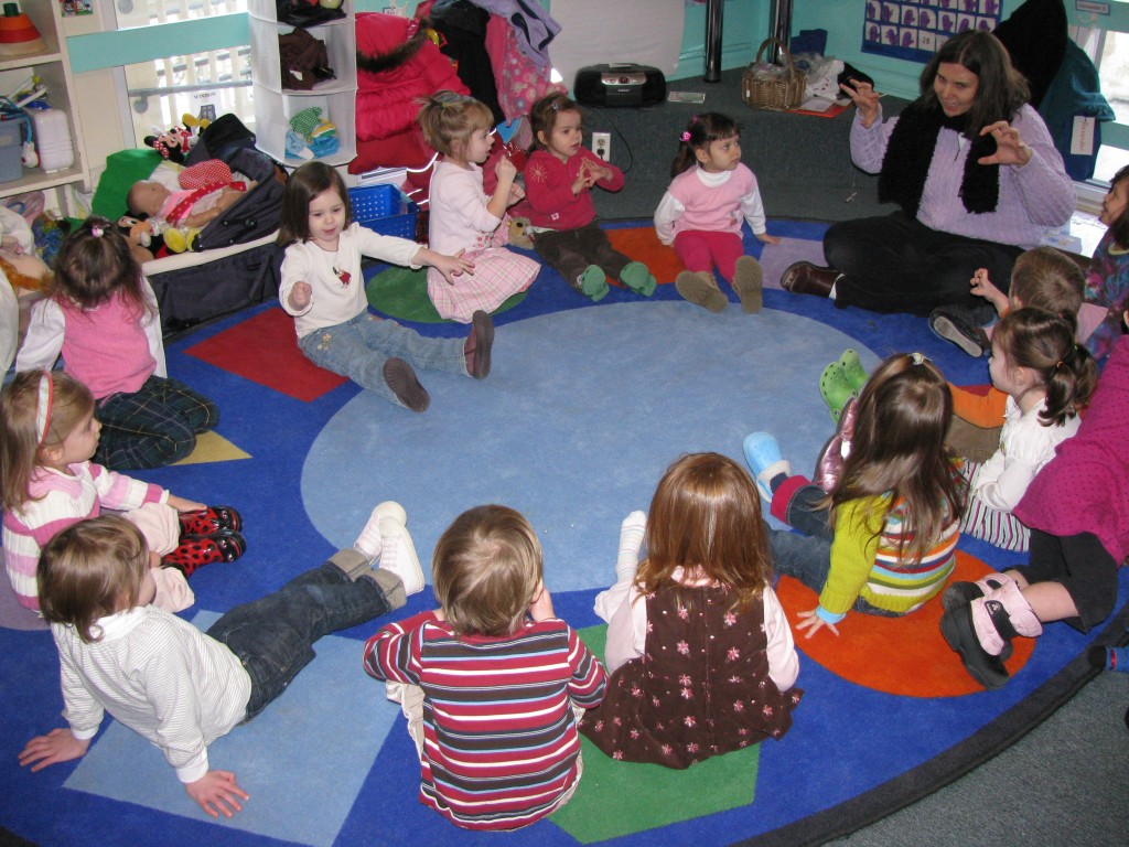 Agassiz Baldwin Community Circle Time At Preschool