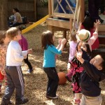 Preschoolers enjoy play structure 2012