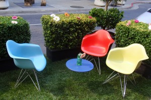 Tom Hilton - Parking Day - colorful chairs